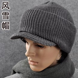 Wholesale Types Beanies Hats - Wholesale-Thickening type male the winter sets thermal knitted hat winter hat ear hat snow cap 2026