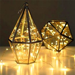 Wholesale Used Christmas Lights - 2M 20LEDS holiday lighting 3 * AA Battery power operated led copper wire string lights Christmas Party Wedding New Year Use