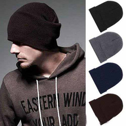Wholesale Mens Skull Knit Hat - Hot Sales classic Mens Ladies Womens Slouch Beanie Knitted Oversize Beanie Skull Hat Caps 10pcs