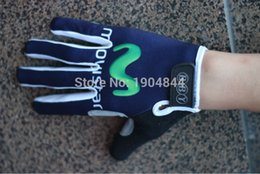 Wholesale Gloves Movistar - Wholesale-2015 cycling gloves Movistar Full Finger bike gloves  men's Sports gloves