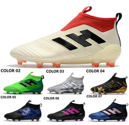 Wholesale Spike S - 2018 Drop shipping ACE 17+ PureControl FG Soccer shoes NEW arrival Men's Soccer boots cheap Performance Male ace 17 soccer cleats football s