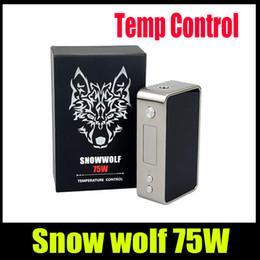 Auténtico lobo de nieve online-TOP Snowwolf 75W mini Box Mod E Cigarrillo para batería 18650 Snow Wolf 75w Auténtico Sigelei TC Temperature Control mod DHL Gratis