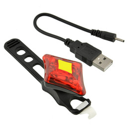 Wholesale Diamond Usb Flash - new arrival LED Cycling Bike Bicycle Rear Tail Red Flashing Light USB Rechargeable Diamond-shaped high quality free shipping