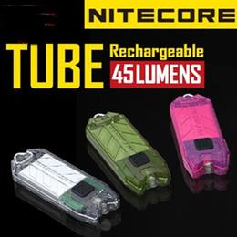 Wholesale Wholesale Tiny Led Lights - NITECORE Tube Water Resistant Portable Tiny Flashlight USB Rechargeable Light - Multi-Color