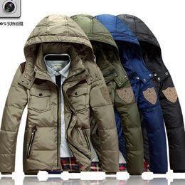 Wholesale Xxl Big Fur Collar Coat - Fall-Free shipping plus size XXL XXXL 4XL big size long large fur collar men's clothing coat thickening down coat mans military brand