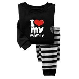 Wholesale Pajama Years - Girl Clothes Sets Baby Girls Pajama Set Kids Pajamas Long PJ'S Suits Nightgown 2 3 4 5 6 7 years Kids Tee Shirts Leggings