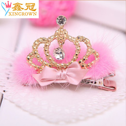 Wholesale Custom Korean Jewelry - 2015 Korean version of the new creative crown headdress Cute baby hair of children hairpin Yiwu jewelry wholesale custom
