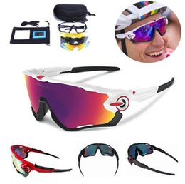 Wholesale Glasses Bike Polarized - 3 Lens Brand New Jaw Outdoor Sports Cycling Sunglasses Eyewear TR90 2018 Men Women Bike Bicycle Cycling Glasses Goggles