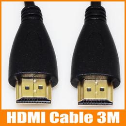 2019 or convertir 3M HDMI vers HDMI convertisseur de câble 1080P V1.4 3M 10FT mâle à mâle pour téléphone portable pour ordinateur Tablet PC de haute qualité 50pcs / up