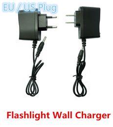 Wholesale Round Eu Adapter - Flashlight Power Adapter Flashlight Wall Charger 18650 Battery Charger Flashlight 3.5mm Round Plug Charger EU US Plug
