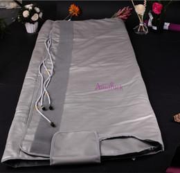 Wholesale Sauna Blankets - Waterproof portable slimming machine 3 zone Sauna Blanket body fat loss FIR Far Infrared blanket
