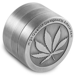 Wholesale Cheap Metal Grinders - Formax420 Metal Herb Grinder 4 Piece Cheap Grinder Magentic Designed with Pollen Catcher and Free Scraper 50mm Color Grey Free Shipping