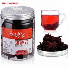 Rosa de té chino online-C-TS006 Té Roselle 100% té de hibisco chino natural Flores Mujer Blanqueamiento Aumentar Color Té Rosa Berenjena