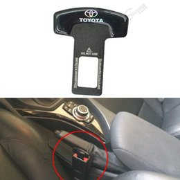 Wholesale Car Toyota Camry - 10pc Brand Seat Plug Buckle Black Car Covers Safety Belt Clip For Toyota Camry Corolla Mark X Highlander Prado Car - Styling