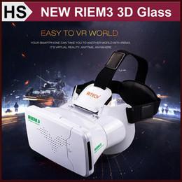 "Wholesale Dhl Virtual Video Glasses - Ritech III 3D Virtual Reality Head Mount RIEM3 VR Glass Google Cardboard Rift 3D Video Glasses for Cell Phone 3.5"" - 6.0"" DHL"