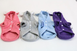 Wholesale cheap large dog clothes - Winter 4colour 5 Size pet supplies cheap cute small dog clothes Pet clothes pets supplies with inner liner puppy outfits dog winter coat