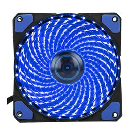 Wholesale Fan Plugs - 33 Light LED Silent Fans Radiating Heatsink Cooler Cooling Fan For Computer PC Heat sink 120mm fan 12V Luminous 3Pin 4Pin Plug Free DHL