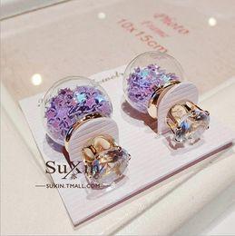 Wholesale Pearl Alphabet - Europe and America earrings D home sided glass pearl earrings pentagram earrings jewelry wholesale zircon