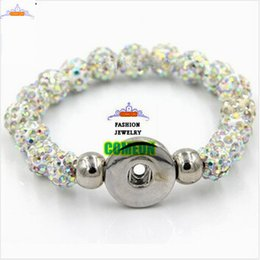 Wholesale Best Beads For Shamballa - fashion jewelry 10mm Pave Rhinestone Shamballa Beads Snap Button Bracelet,bracelets for women and men,best gifts
