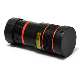 Argentina Universal 8X lente de la cámara del telescopio del teléfono inteligente zoom óptico de color negro y rojo con clip extraíble DHL libre OTH147 supplier clip zoom lens Suministro