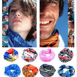 Wholesale Uv Headwear - free shipping cycling Bandanas Headwear Magic Seamless Multi Functional Kerchief Outdoor Head scarf UV Protection Fashion Accessories