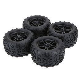 Wholesale Rims For Trucks - 4Pcs New Black Wheel Rim and Tire for 1 8 HPI HSP Truck RC Car Parts order<$18no track