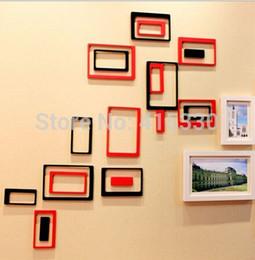 Wholesale 3d Photo Frame Designs - 2 Set lot High Quality 3D Photo Frame & 3D Oblong Wall Decor For Home Decorative