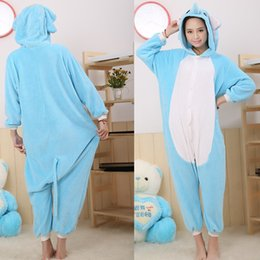 Wholesale Elephant Adult Pajamas - Blue Elephant Animal Onesies Pajamas For Adult Funny Animal Costumes Pyjamas Women Ladies One Piece Onesies Costumes Pyjamas Kigurumi