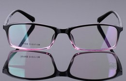 Wholesale Eyeglasses Picture Frame - fashion retro rectangular gradient picture frame super light optical myopia full-rim pure ULTEM TR90 8116 style unisex six colors eyeglasses