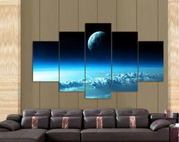 Sogno Blu Cielo stellato Immagine di arte della parete Decorazione della casa Soggiorno Stampa su tela Pittura Stampa fotografica su tela F / 855 da decorazioni di cielo blu fornitori