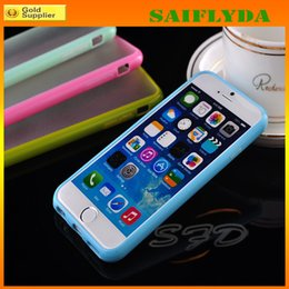 Wholesale iphone 4s cases slim - Candy Color Slim TPU+PC Transparent Clear Matte Frosted Hard Case Cover for iphone 4 4S 5 5S 5C iphone 6 iphone 6 plus