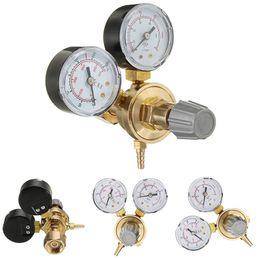 Wholesale Valve Regulators - Freeshipping Professional Argon CO2 Pressure Reducer Copper Mig Flow Control Valve Dual Gauge Welding Regulator