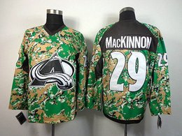 Wholesale Wholesale Digital Camo Military - military avalanche McKinnon #29 hockey jerseys digital camo green fashion ice hockey uniform