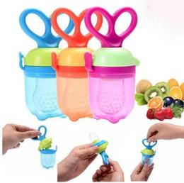 Wholesale baby milk nipple - Baby nipple Bottles Safe Baby vegetable fruit Feeding Pacifier Fresh Food Milk Feeding Nipple Pacifier Bottles KKA3580