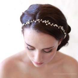 Wholesale Hair Tiara Gold - In Stock Beautiful Wedding Bridal Hair Jewelry Crystal Tiaras & Hair Accessories Sparkly Bride Headhand Cheap Bridal Jewelry Fashion