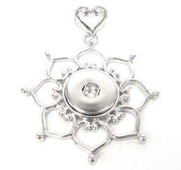 Canada Livraison gratuite new arrivent Mode fleur losange décoration métal morceau bouton pression bouton collier pendentif Offre