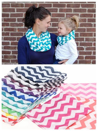 Wholesale Infinity Scarf Knitting - Chevron Zig Zag Stripe Jersey Knit Infinity Cowl Scarf Cotton Scarves knit striped scarf cotton neckerchief 180*25cm free shipping