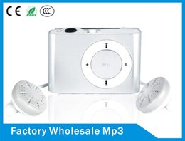 Wholesale Radio Housing - Mini Clip MP3 Portable With TF SD Card Support Headset, FM Radio Slot Sports Style Metal Housing MP3 Player