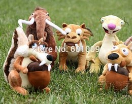 Wholesale Tiger Ice Age - Free Shipping EMS 100 Lot Ice Age Elephant, Bradypod,Squirrels,Tiger Plush Toy Ice Age 5 Plush Doll 7""