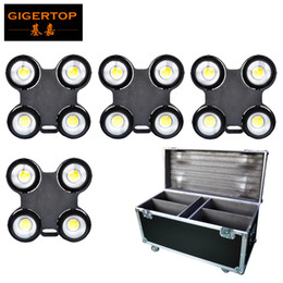 Wholesale Usa Cables - 4in1 Road Case with Wheels Pack Audience Blinder 4x100W LED COB 3200K 6500K CW+WW Optional Waterproof Power DMX Cable CE ROHS GIGERTOP
