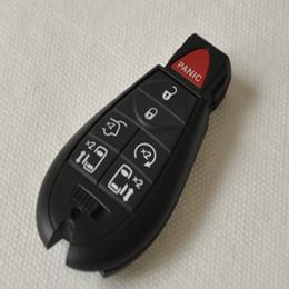 Leere schlüssel chrysler online-7 6 + 1 Tasten Remote Case Blank Smart Key Shell Fit Für Chrysler Town großes Logo Position Schnalle Bit Tasten können demontiert werden