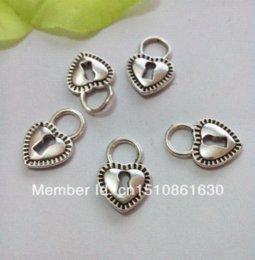 Wholesale Cheap Tibetan Jewelry - 100pcs Tibetan Silver Tone Heart Lock Charms Pendants Fashion Jewelry DIY Floating Charm 17.5x12mm Charms Cheap Charms