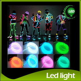 Wholesale El Lights - Flexible Neon Light 8 Colors 3M EL Wire Rope Tube with Controller 3M Flexible Neon Light Halloween Decoration Christmas Decoraion EL Light