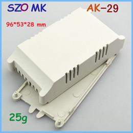 Wholesale 28mm led - LED plastic enclosure power distribution box (5 pcs) 96*53*28mm plastic housing for PCB abs plastic box diy outlet enclosure