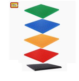 Wholesale Build Parts - LOZ Blocks Spare parts DIY Building Blocks Plate Base Kids Blocks Accessories Floor Board Base Board Different Colors 8x8cm