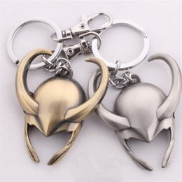 Wholesale Metal Animal Masks - Moive Jewelry Key Rings Thor Loki Mask Alloy Keychain & Key Rings Jewelry For Gift Hot Sale