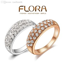 Wholesale Weddings Deals - Wholesale-Super Deals!!! Fashion wedding rings 18K Rose gold  platinum plated rings for women Austrian crystals Jewelry ANEL ANEIS ANILLOS