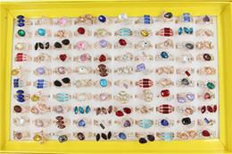 Ordem anéis banhados a ouro on-line-Mix ordem novo Estilo 30 pçs / lote luxo High-grade anel de cristal Rose banhado a ouro anel Estrela da grande loja sinal lady / girl Moda anel