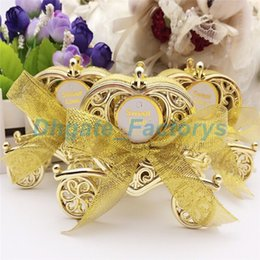 Wholesale Gold Wedding Favour Boxes - Love Carriage Wedding Box Party Favours Gift Candy Chocolate Box Gold and Silver Box for Wedding Baby Birthday Party