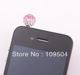 Wholesale Disco Ball Tone - Wholesale-SUPER Bling Two Tone Crystal Shamballa Disco Ball Anti Dust Plug Cap for iphone Mobile ZO20